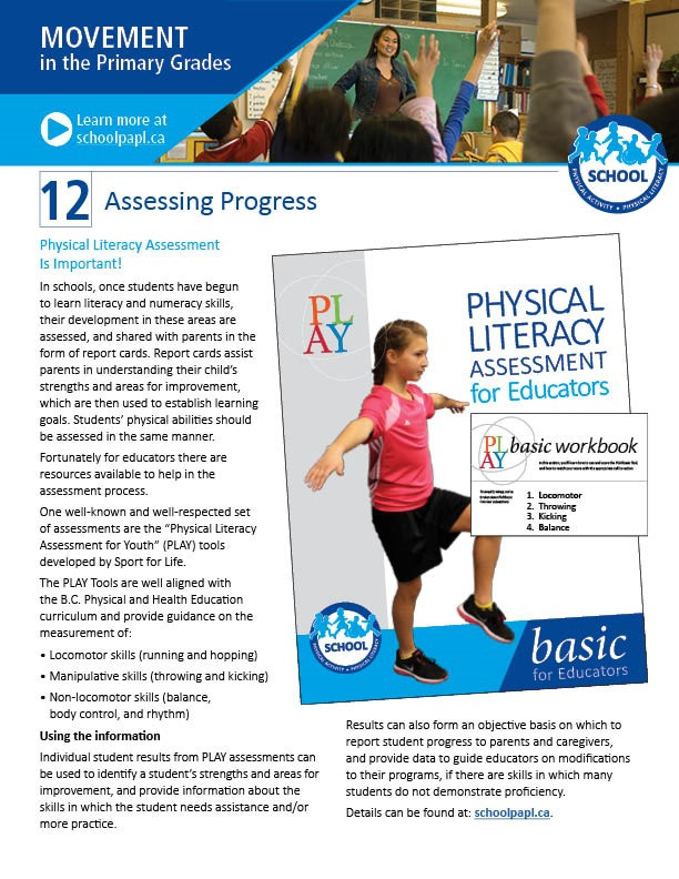 Movement in the Primary Grades: Assessing Progress