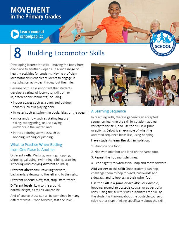 Movement in the Primary Grades: Building Locomotor Skills