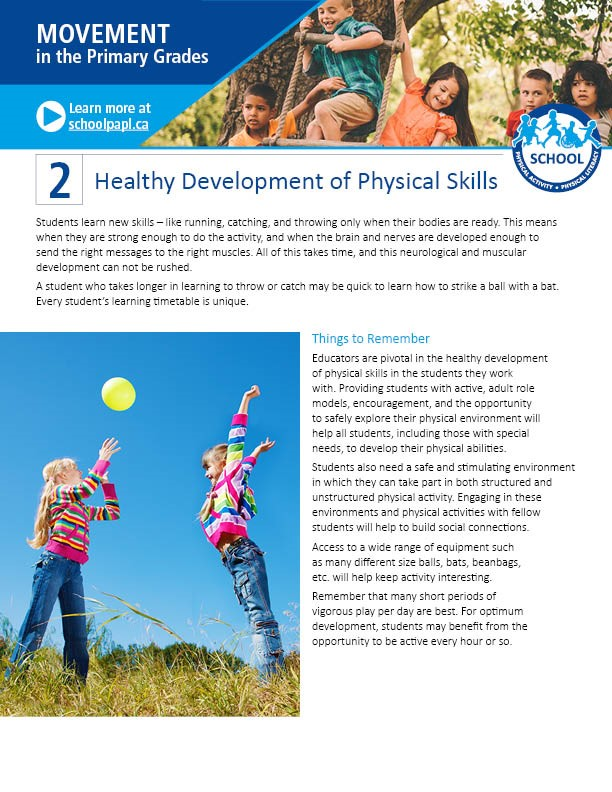 Movement in the Primary Grades: Healthy Development of Physical Skills