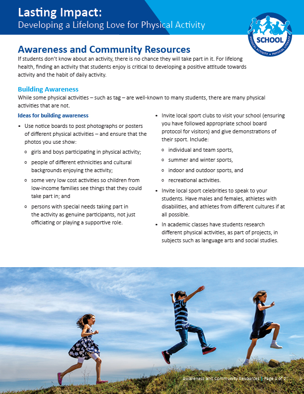 Lasting Impact: Awareness and Community Resources