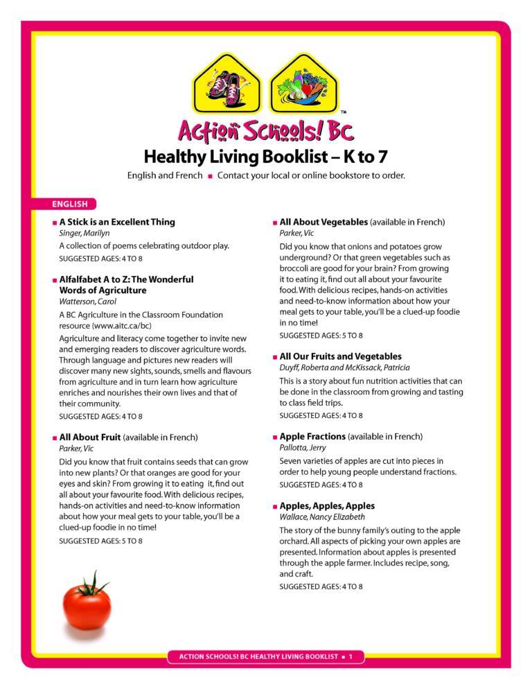 Action Schools! BC Healthy Living Booklist