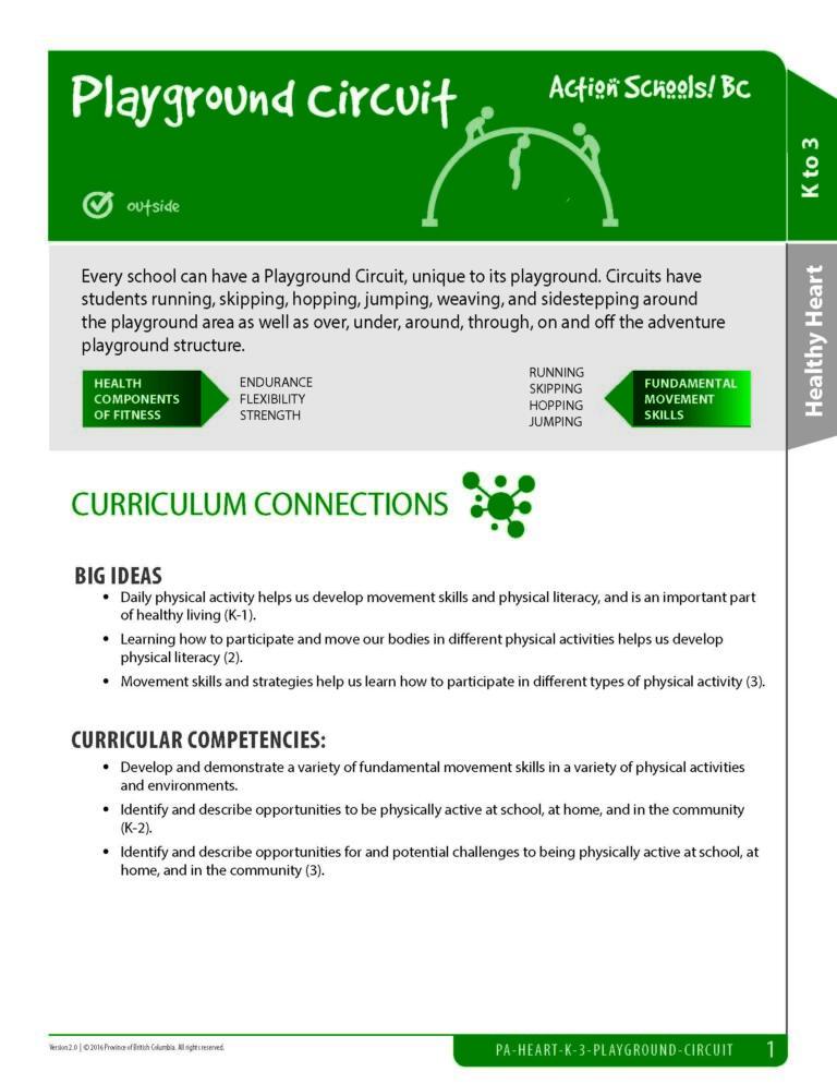 Action Schools! BC Playground Circuit Activity (Grades K-3)